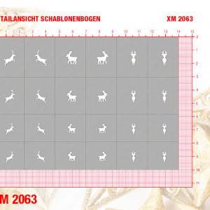 XM2063 Klebeschablonen