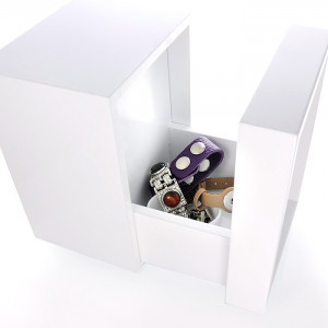 """Schmuckkasten """"Snap-Cube"""", Holz, Hochglanz Weiß, Aufbewahrung"""