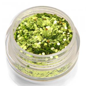 Holoblättchen Hellgrün, metallic-glossy