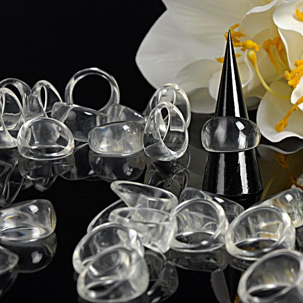 Clusterringe, transparent