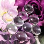 Cabochons Klebsteine, 10 Stück, ± 30 mm glasklar 1