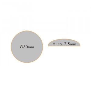 Cabochons Klebsteine, 10 Stück, ± 30 mm glasklar