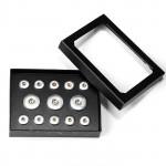 Snap-Schmuckbox, schwarz für M & XL Click-Buttons 1