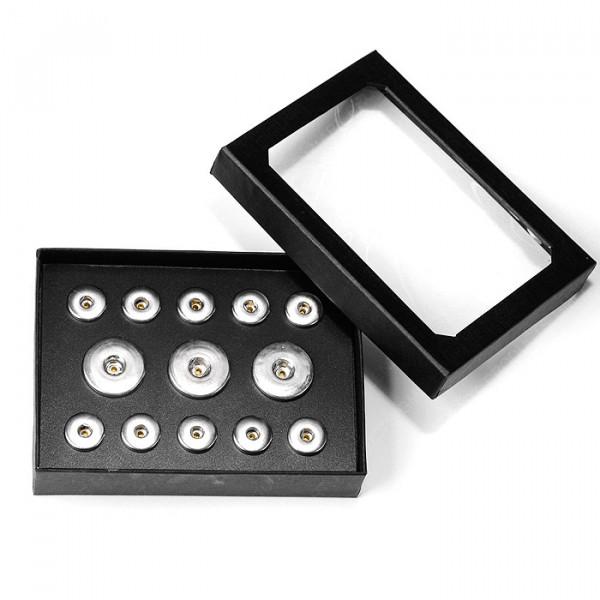 Snap-Schmuckbox, schwarz für M & XL Click-Buttons