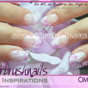 Nailart Airbrush Inspiration, Klebeschablonen OM4468