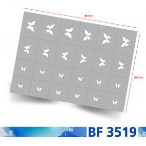 Nailart Schablone selbstklebend BF3519 Übersicht