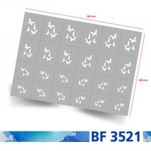 Klebeschablone Airbrushnails BF3521, Übersicht