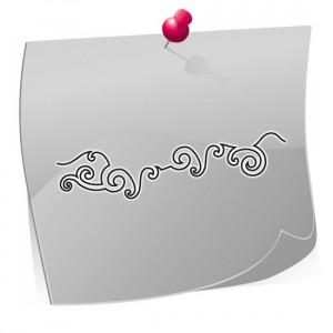 Nailart Airbrush Schablone, Effektlinie, selbstklebend, FFT008