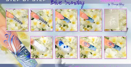 "Airbrushnails Step by Step ""Blue-Sunday"" Nailart"