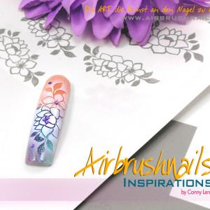 Inspiration Klebeschablonen Airbrush Nailart XFL7008