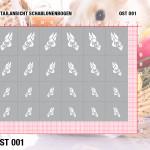 Mini Nailart Airbrush Klebeschablonen Ostern OST001 Grösse