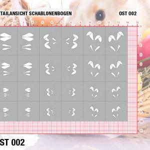 Nails Airbrush Klebeschablonen Ostern OST002
