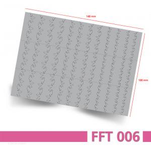 Nailart Airbrush Schablone, Effektlinie, selbstklebend, FFT006 - Bogenansicht