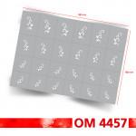 24 Nailart Airbrush Klebeschablonen Ornamente OM4457, selbstklebend, Airbrushnailart