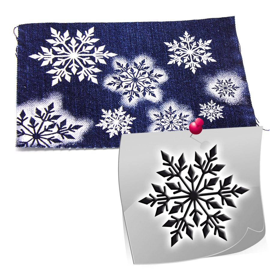 Schablonen für Stoffmalerei, Holz, Kunststoff und mehr - Schneeflocke 01