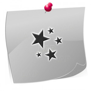 24 Mini Nailart Airbrush Klebeschablonen Sterne ST7512, selbstklebend, Airbrushnailart