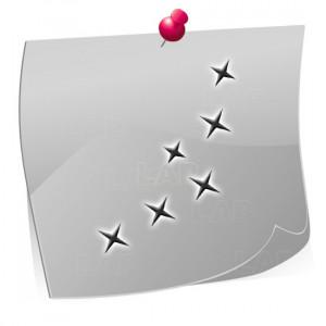 24 Mini Nailart Airbrush Klebeschablonen Sterne ST7508, selbstklebend, Airbrushnailart