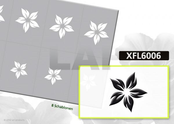 Nailart Airbrush Klebeschablonen XXL Blumen XFL6006, Schmuck-Klebeschablonen Bogenansicht