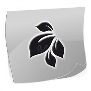 Airbrush Schablonen klebend Nageldesign Blätter BL4284
