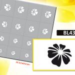 BL4392, Klebeschablone für Airbrushnails