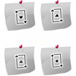 PL03 Airbrush Klebeschablonen Spielkarten