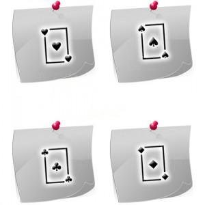 Klebeschablonen Spielkarten PL03